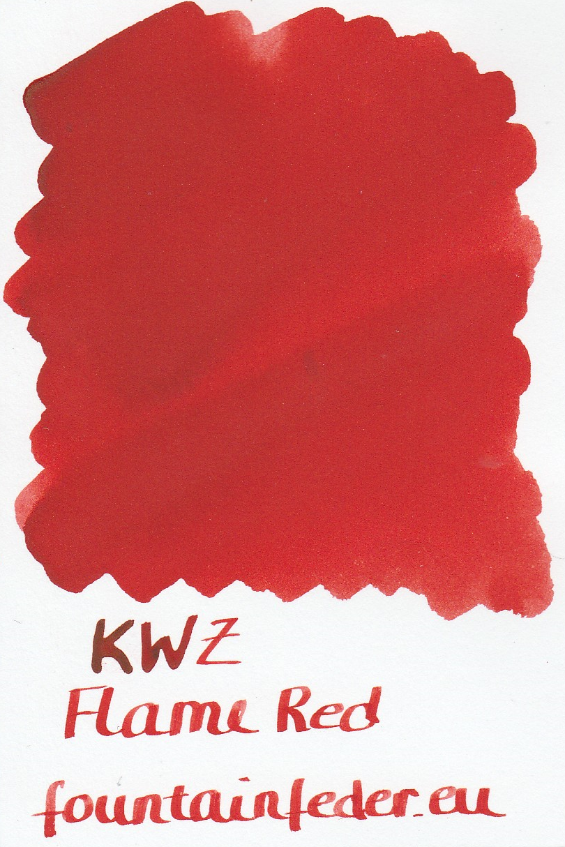 KWZ Flame Red Ink Sample 2ml