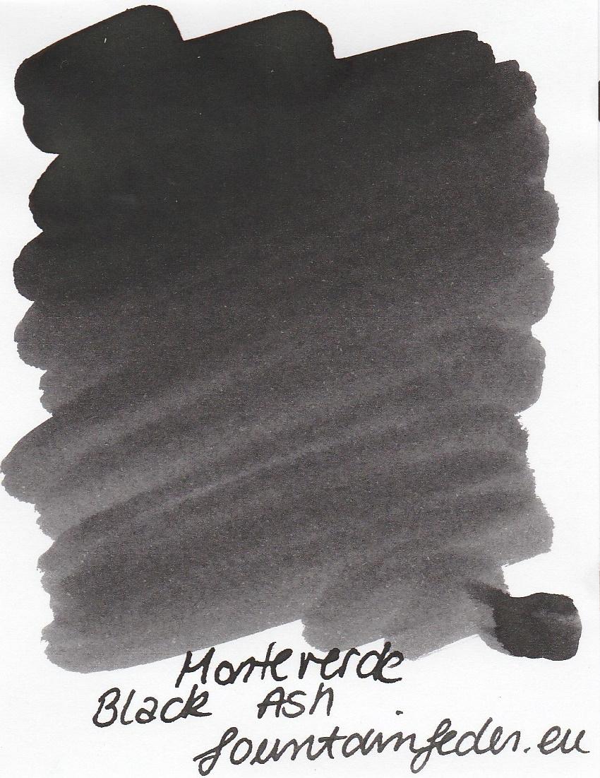 Monteverde  Black Ash Ink Sample 2ml