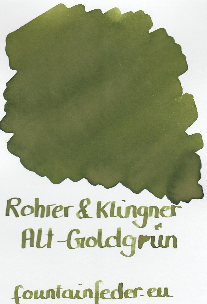 Rohrer & Klingner Alt Goldgrün Ink Sample 2ml