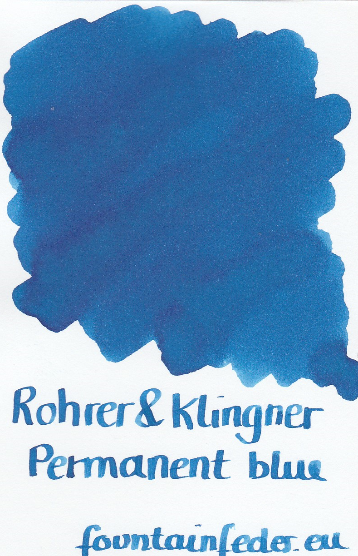 Rohrer & Klingner Blue Permanent Ink Sample 2ml