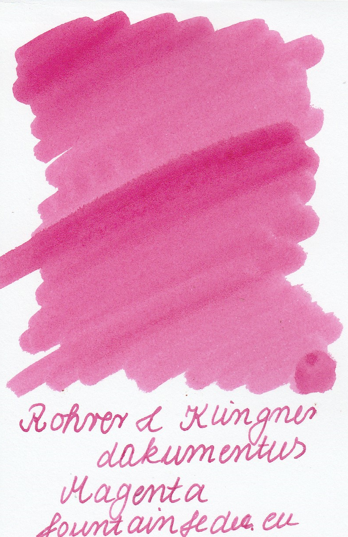 Rohrer & Klingner Documentus Magenta Ink Sample 2ml