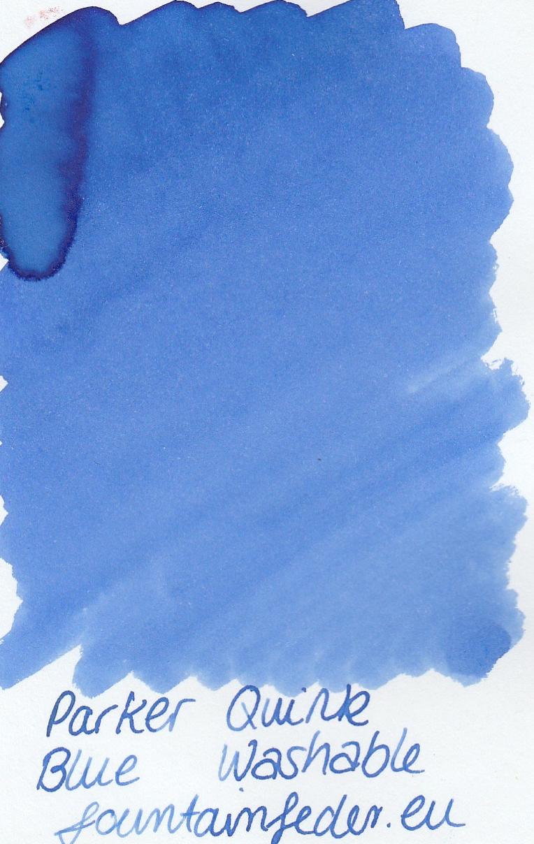 Parker Quink Blue Washable Ink Sample 2ml