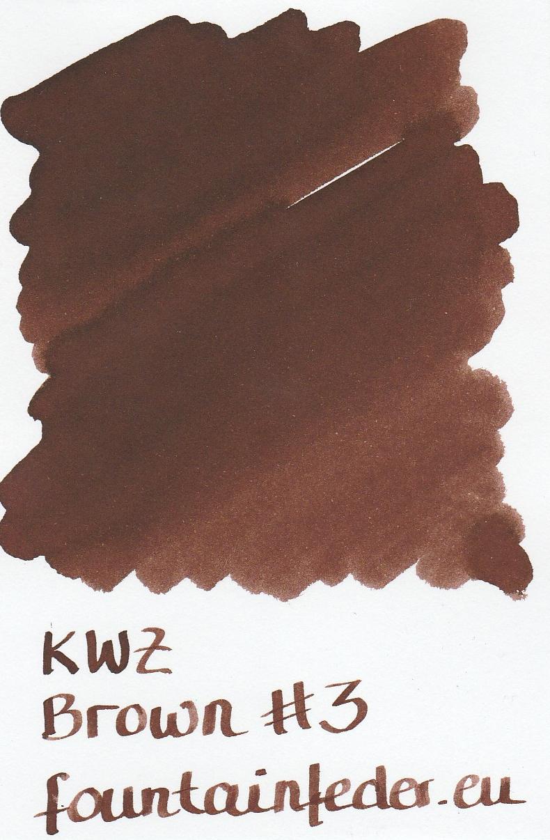 KWZ Brown #3 Ink Sample 2ml