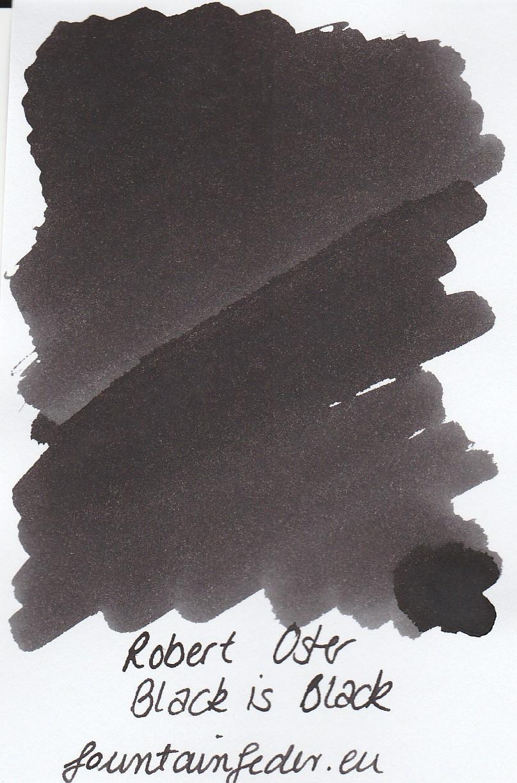 Robert Oster - Black is Black Ink Sample 2ml