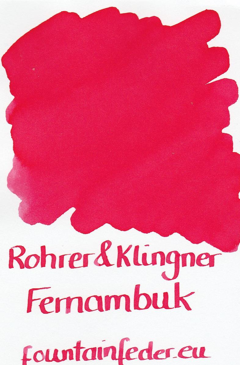 Rohrer & Klingner Fernambuk Ink Sample 2ml
