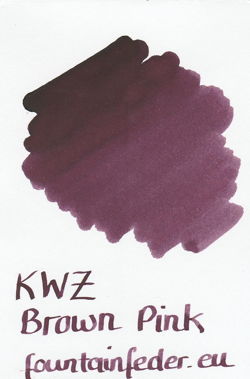 KWZ Brown Pink Ink Sample 2ml