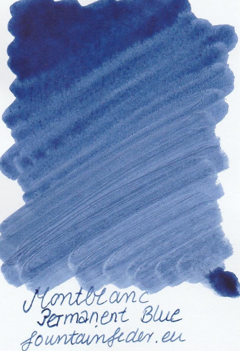 Montblanc Permanent Blue Ink Sample 2ml
