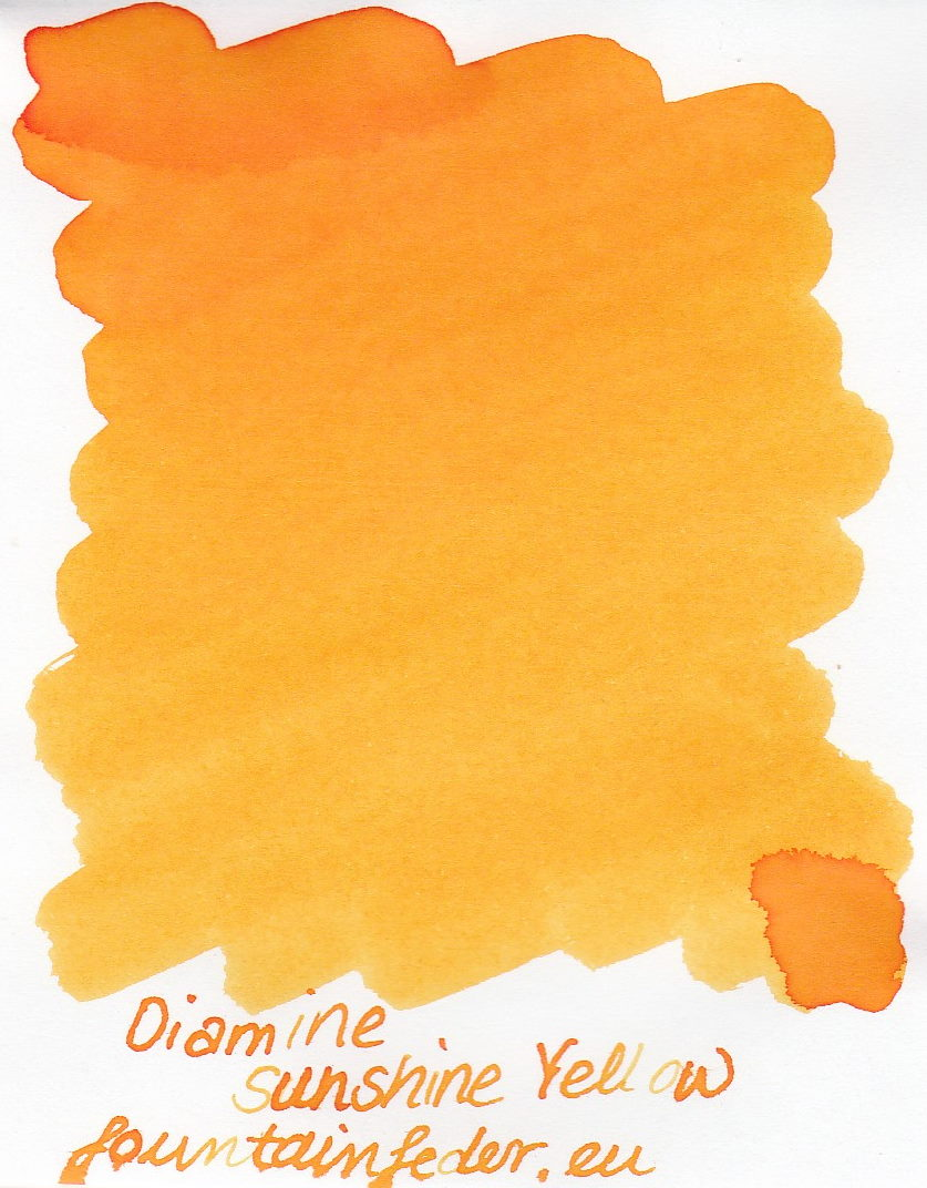 Diamine Sunshine Yellow Ink Sample 2ml