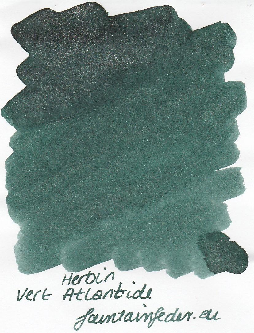 Herbin 350 Vert Atlantide Ink Sample 2ml