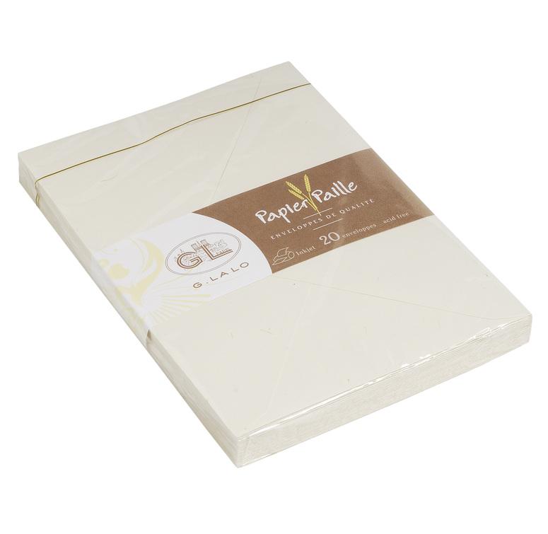 G.Lalo Papier Paille 20 Envelopes C6
