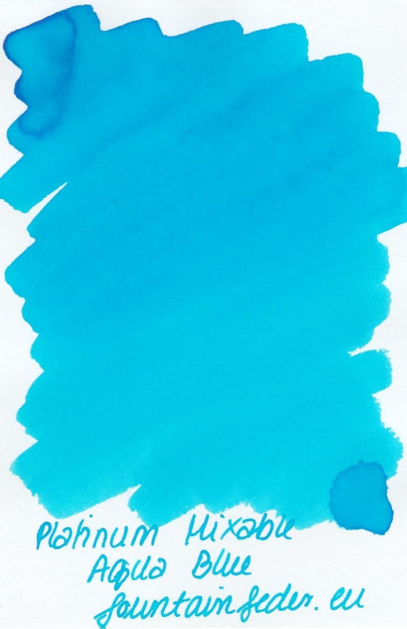 Platinum Mixable - Aqua Blue Ink Sample 2ml