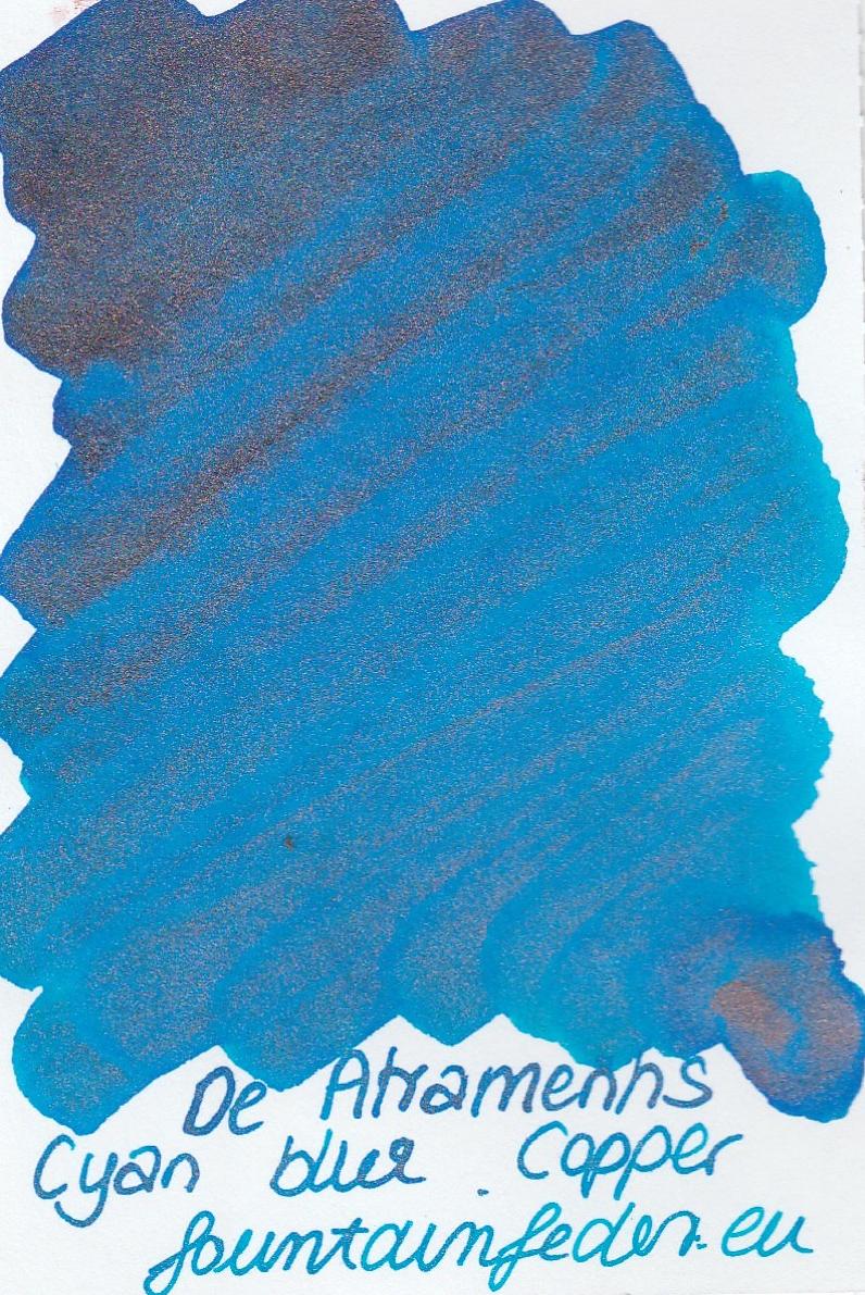 DeAtramentis Cyan Blue - Copper Sample 2ml