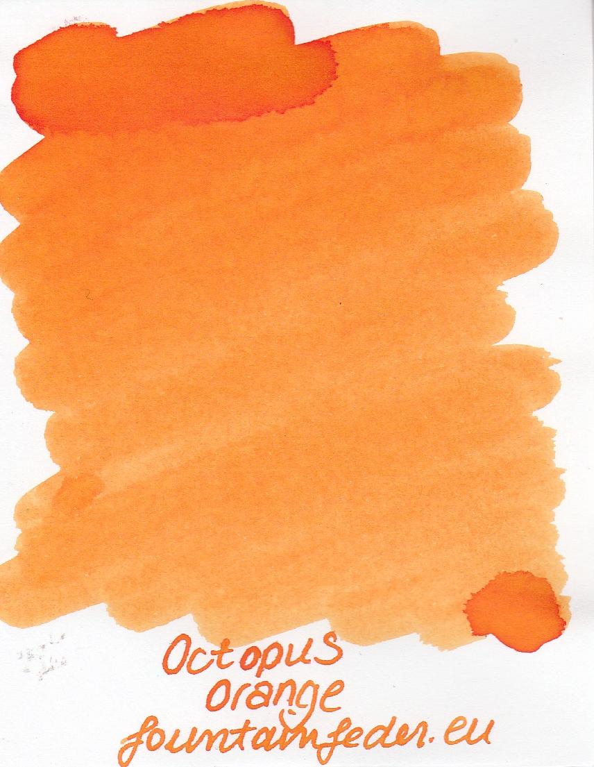 Octopus Fluids Orange Ink Sample 2ml