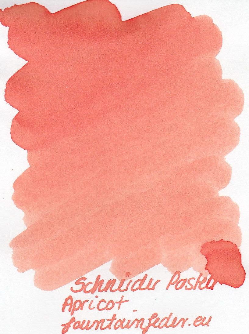Schneider Pastell Apricot Ink Sample