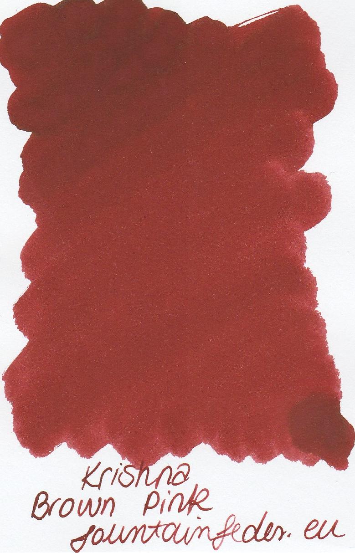 Krishna SR Brown Pink Ink Sample 2ml