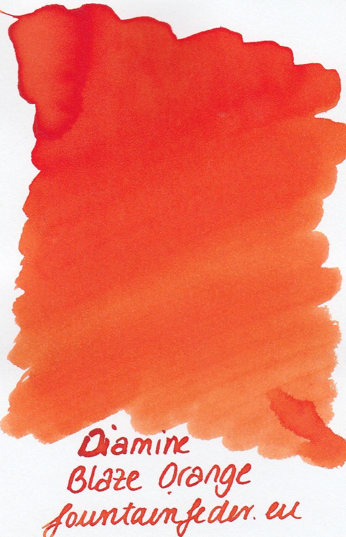 Diamine Blaze Orange Ink Sample 2ml