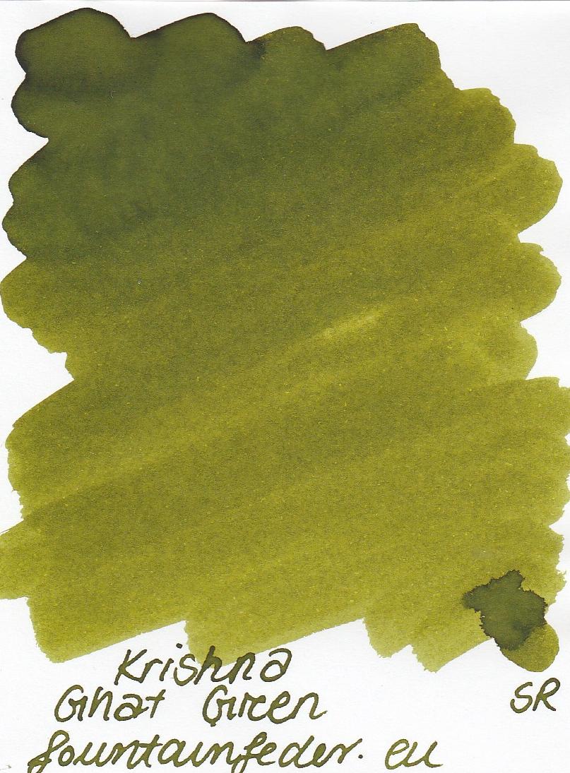 Krishna SR Ghat Green Ink Sample 2ml