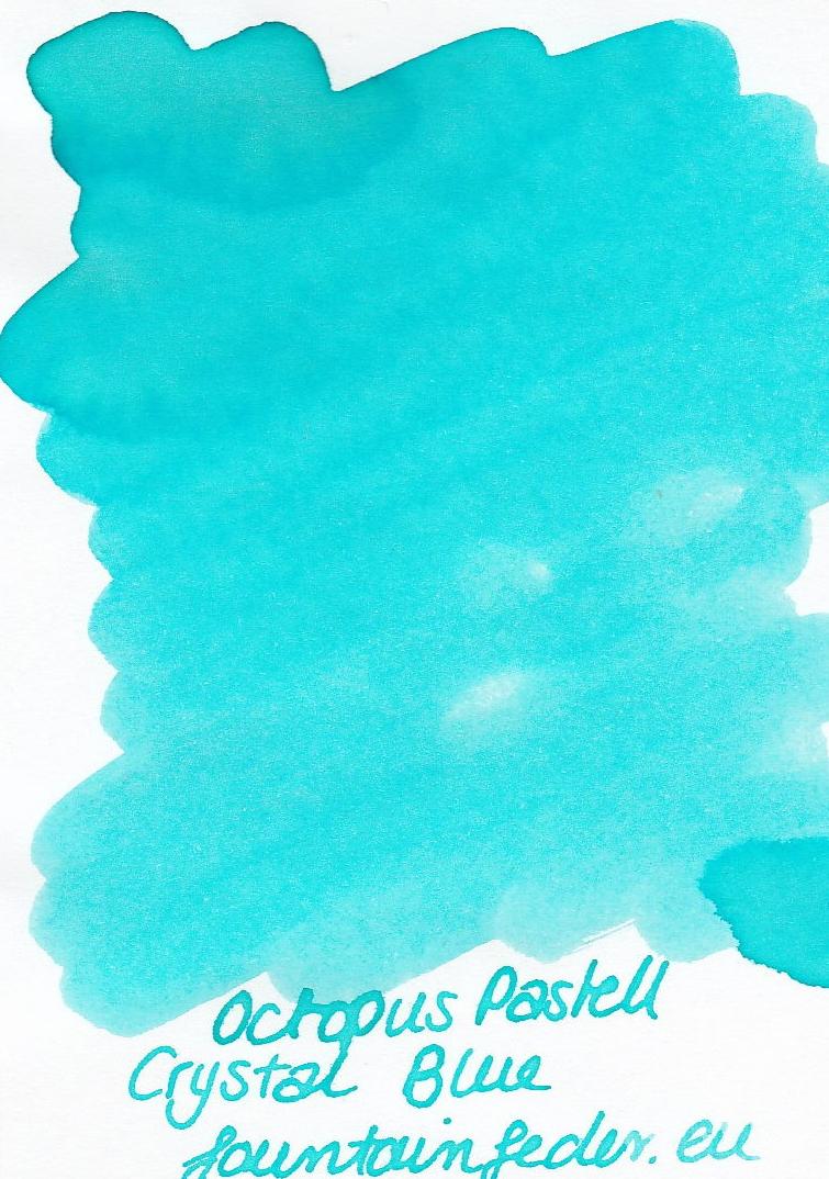 Octopus Fluids Pastell Crystal Blue Ink Sample 2ml