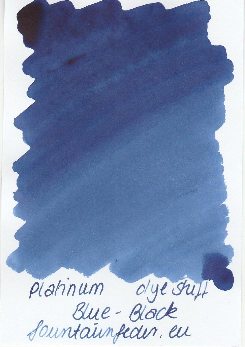 Platinum Dyestuff - Blue Black Ink Sample 2ml