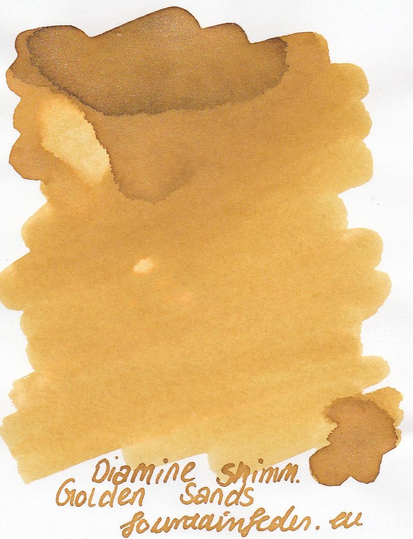 Diamine Shimmer Golden Sands Ink Sample 2ml