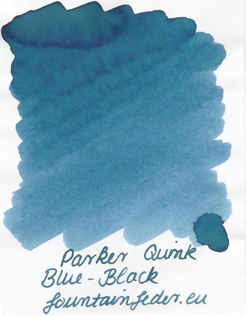 Parker Quink Blue Black Ink Sample 2ml
