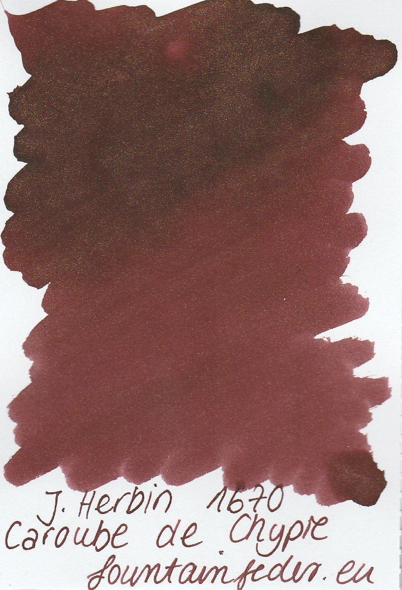 Herbin 1670 Caroube de Chypre Ink Sample 2ml