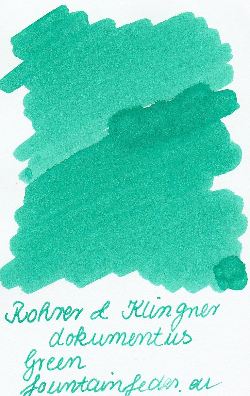 Rohrer & Klingner Documentus Green Ink Sample 2ml