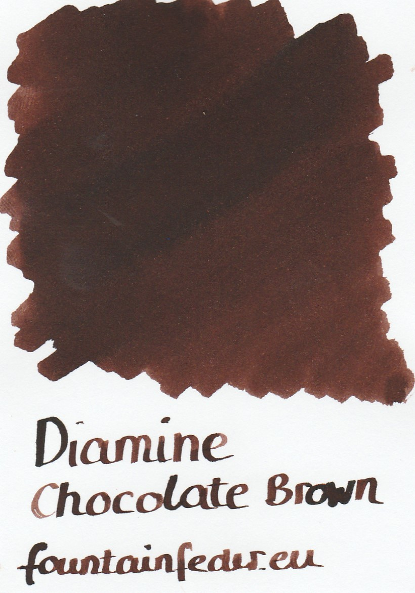 Diamine Chocolate Brown Ink Sample 2ml