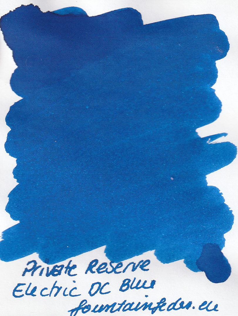 Private Reserve - Electric DC Blue Ink Sample 2ml
