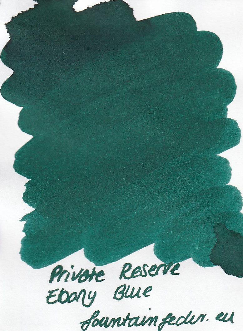 Private Reserve - Ebony Blue Ink Sample 2ml