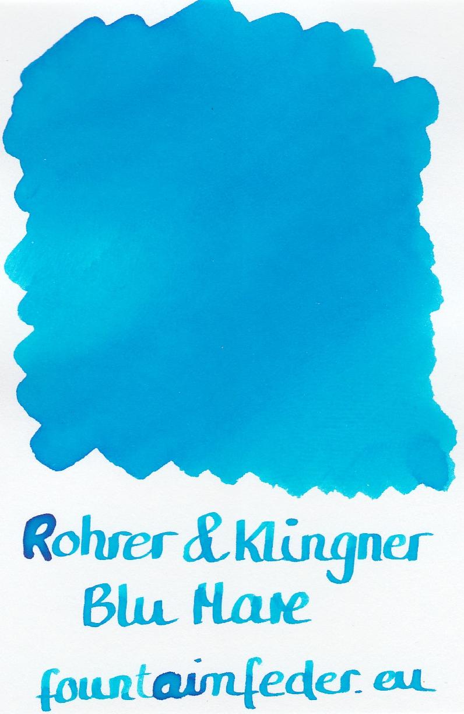 Rohrer & Klingner Blue Mare Ink Sample 2ml