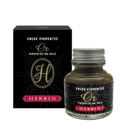 Herbin Pigmented Ink Gold 30ml