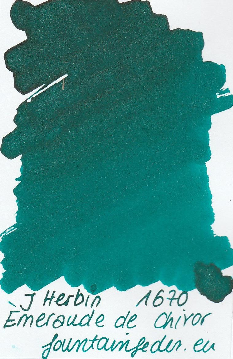 Herbin 1670 Emeraude de Chivor Ink Sample 2ml