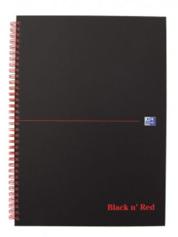 Oxford Black n' Red Notebook A5