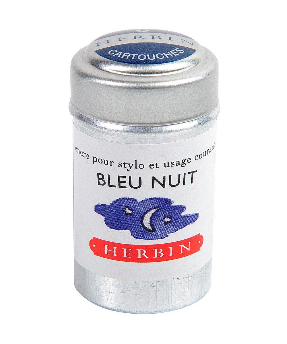 Herbin Ink Cartriges Bleu Nuit , 6 per tin