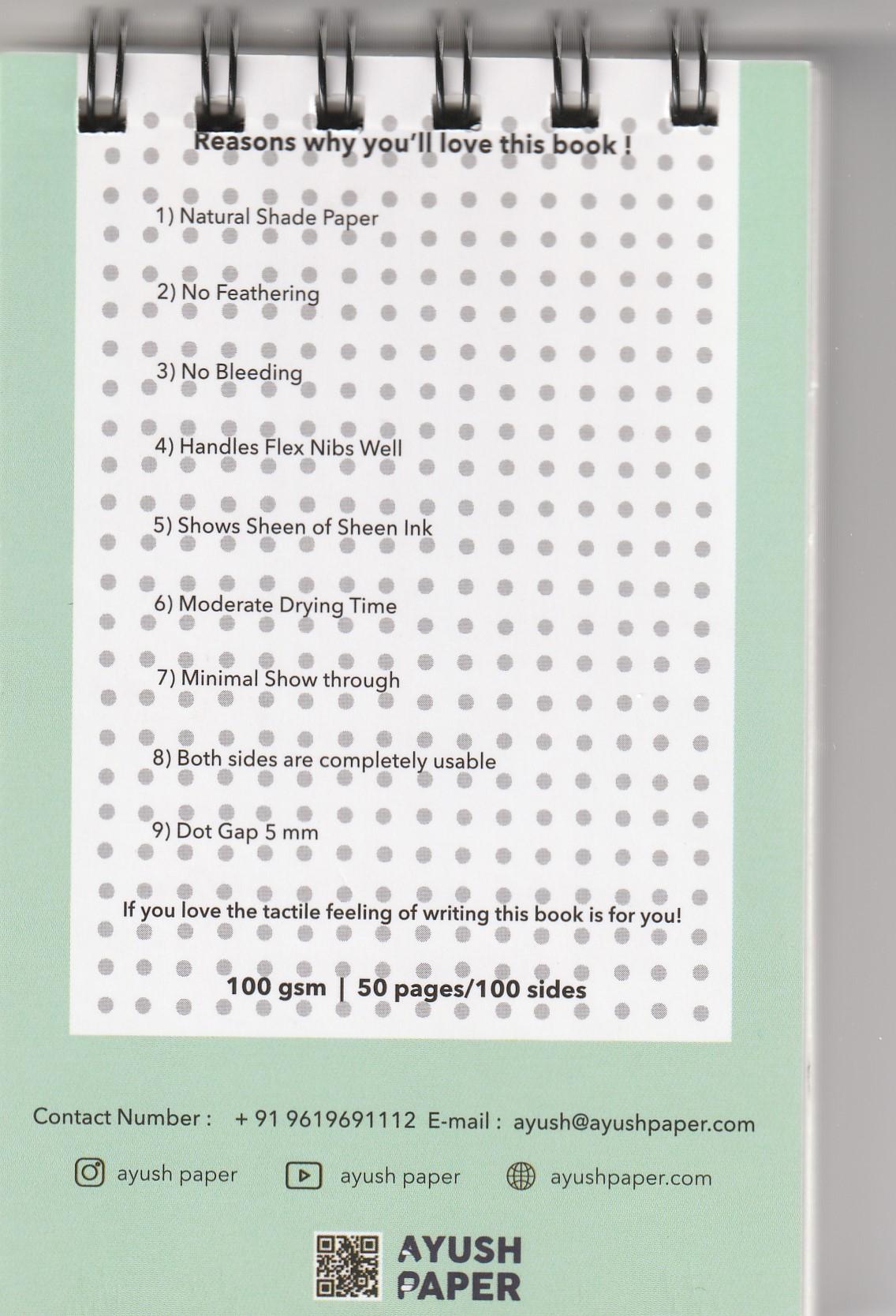 Ayush Paper Notepad A6 Dot
