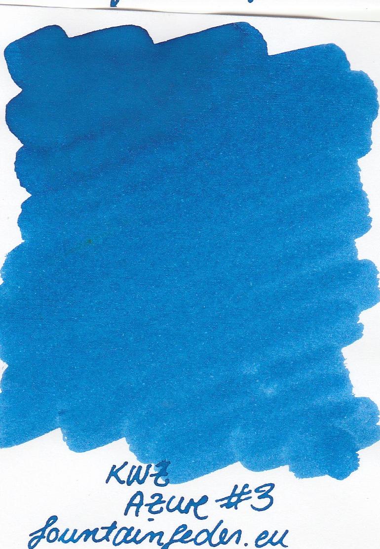KWZ Azure #3 Ink Sample 2ml