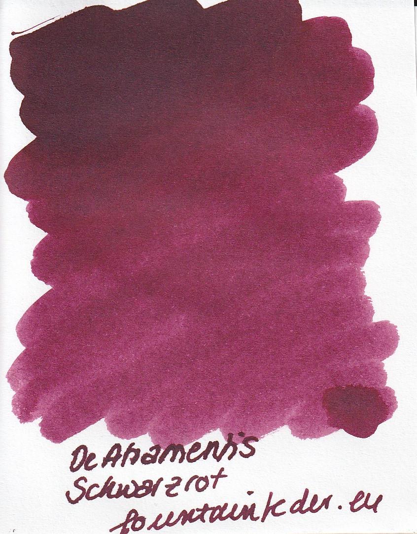DeAtramentis Deepwater Obsession Schwarzrot Ink Sample 2ml