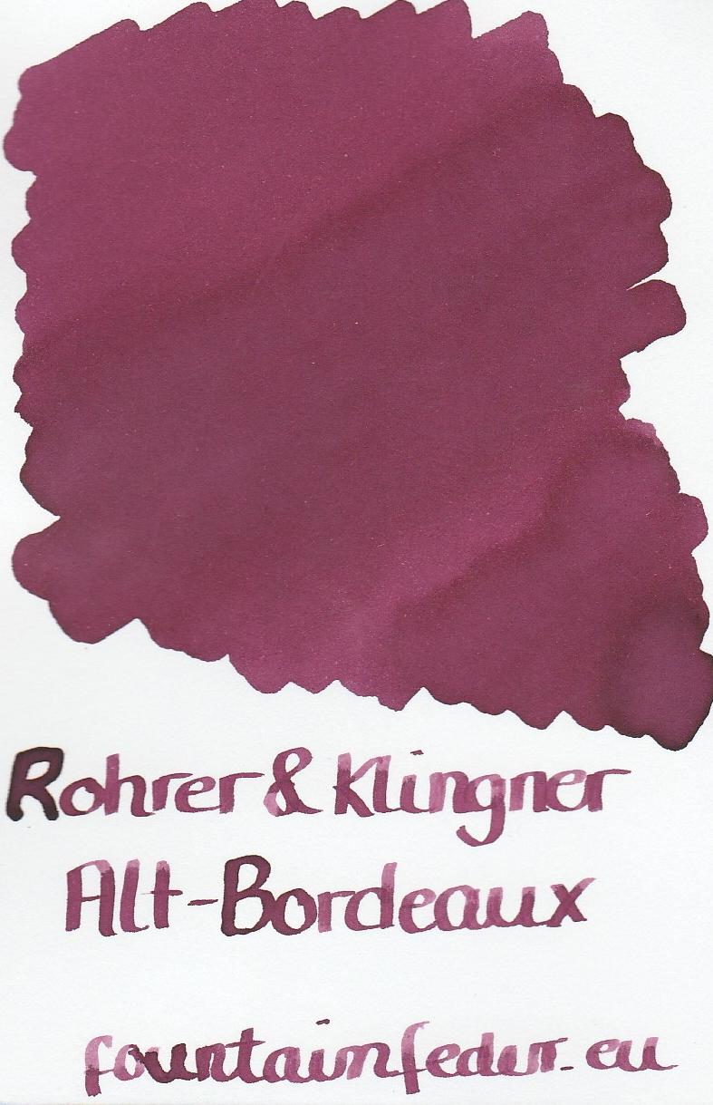 Rohrer & Klingner Alt Bordeaux Ink Sample 2ml