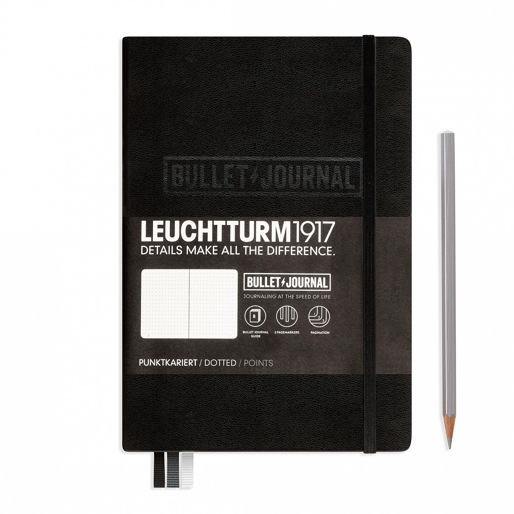 Leuchtturm1917 A5 Hardcover Bullet Journal - Black
