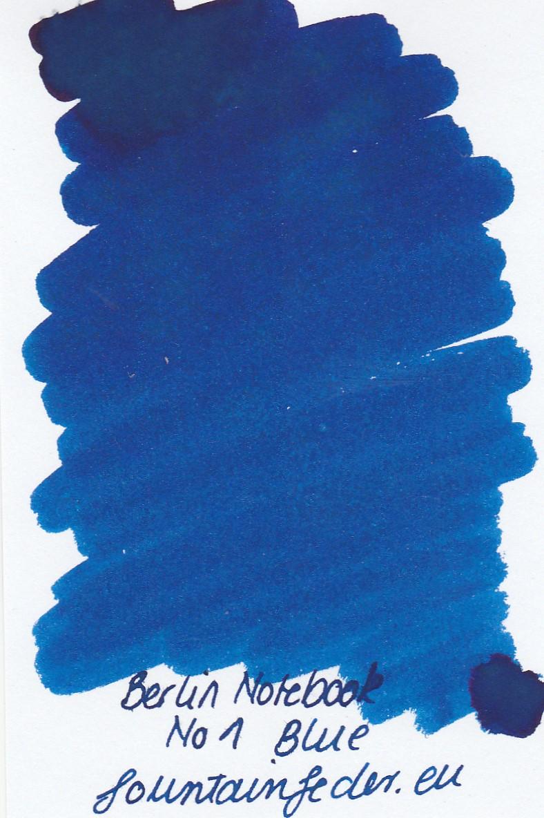 Berlin Notebook Blue No.1 Ink Sample 2ml