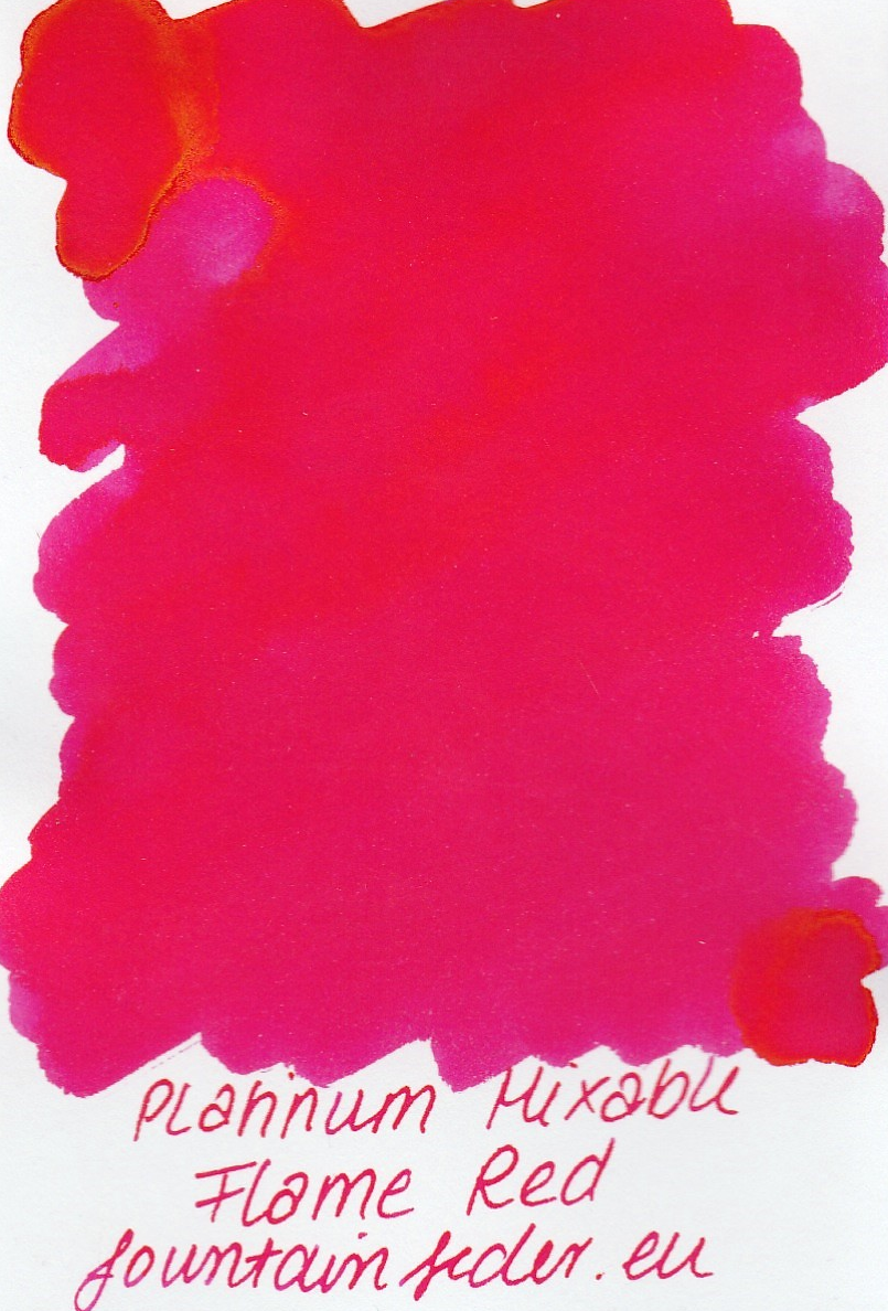 Platinum Mixable - Flame Red Ink Sample 2ml