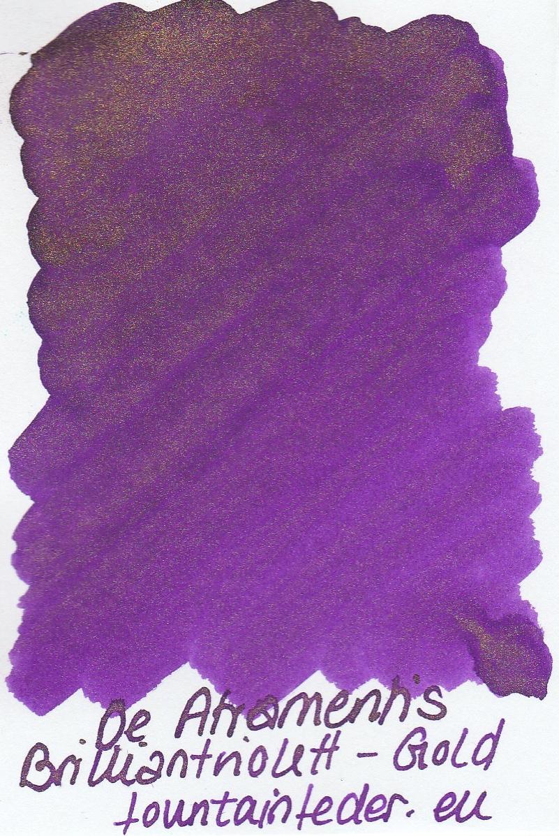 DeAtramentis Brilliantviolett - Gold Sample 2ml