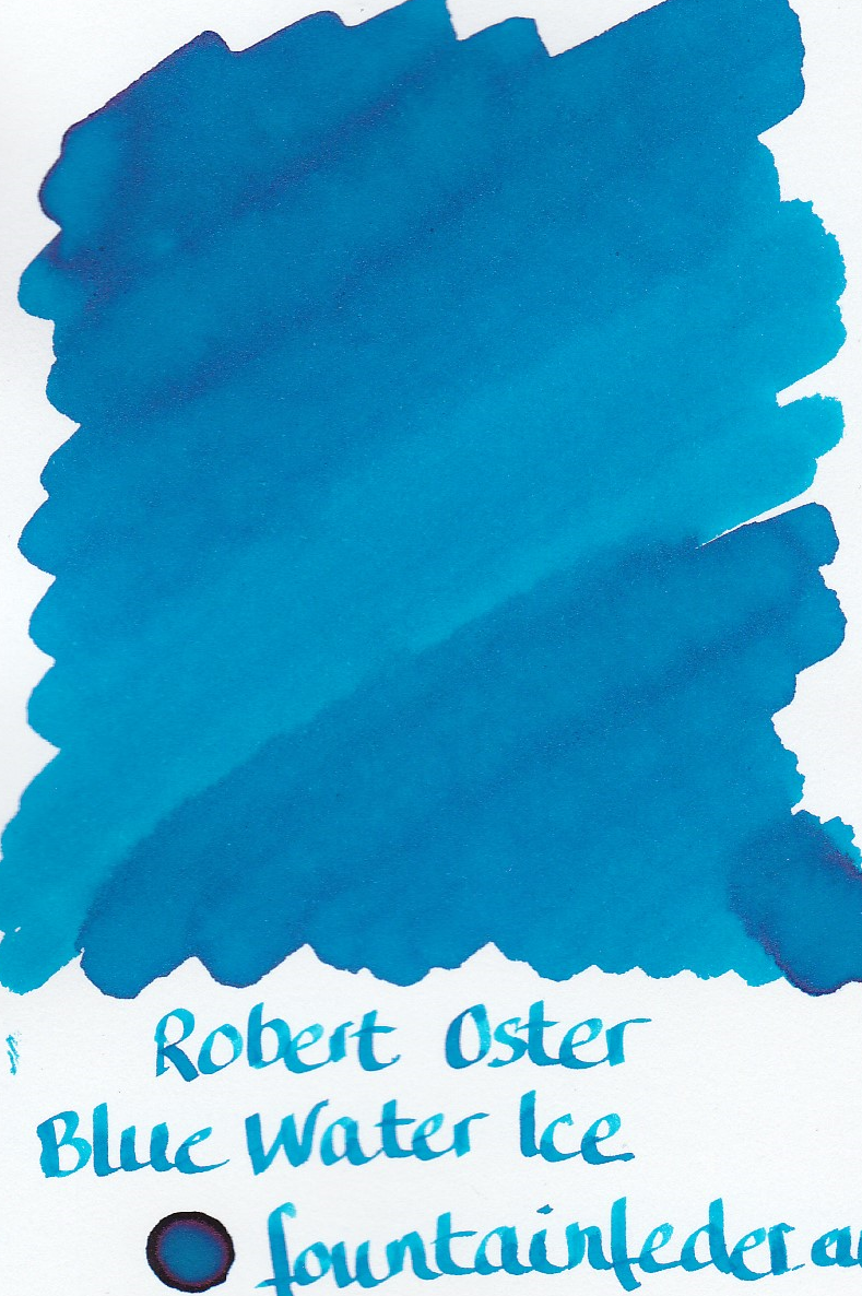 Robert Oster - Blue Water Ice Ink Sample 2ml