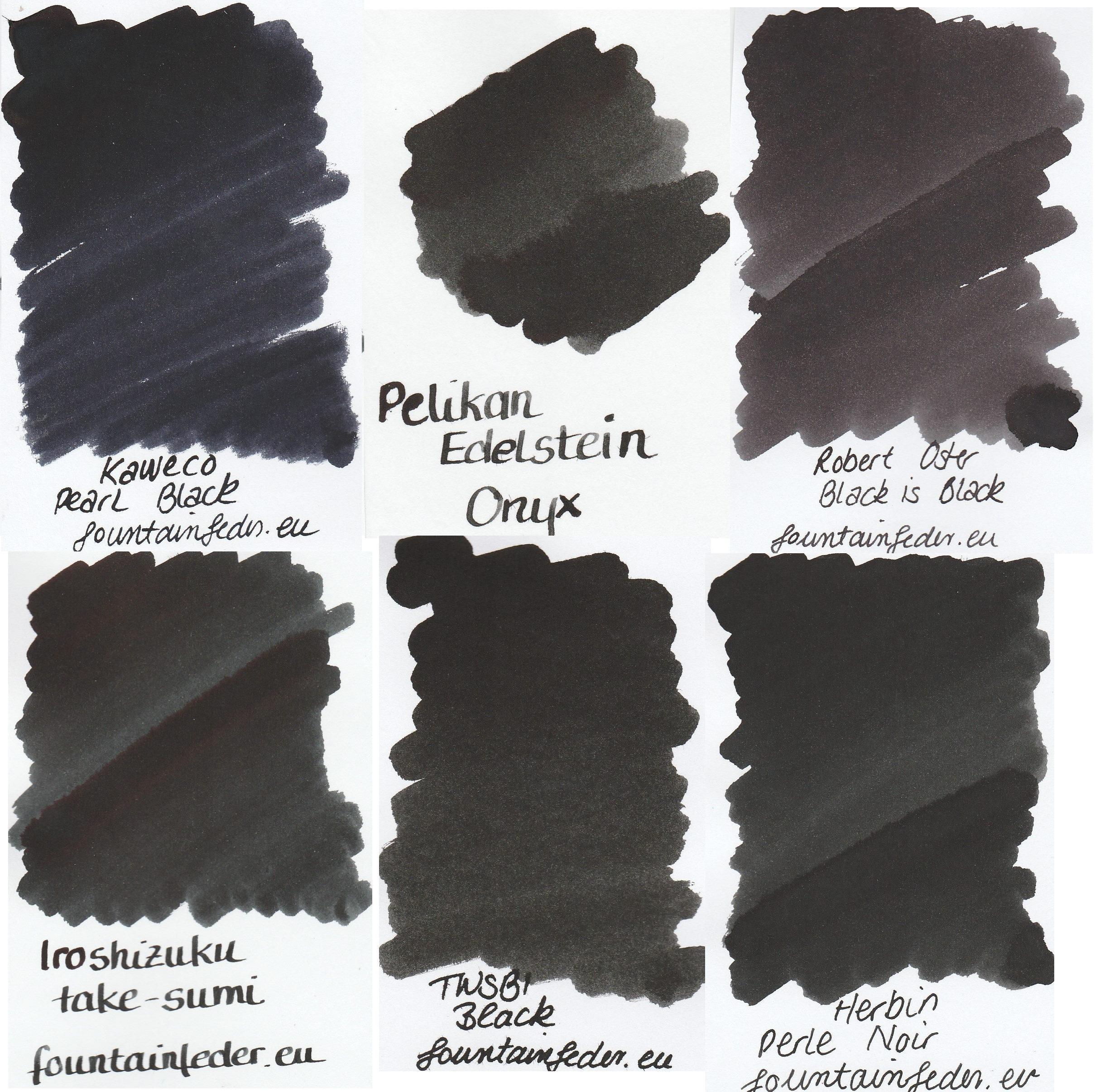 Black Ink Sample Set