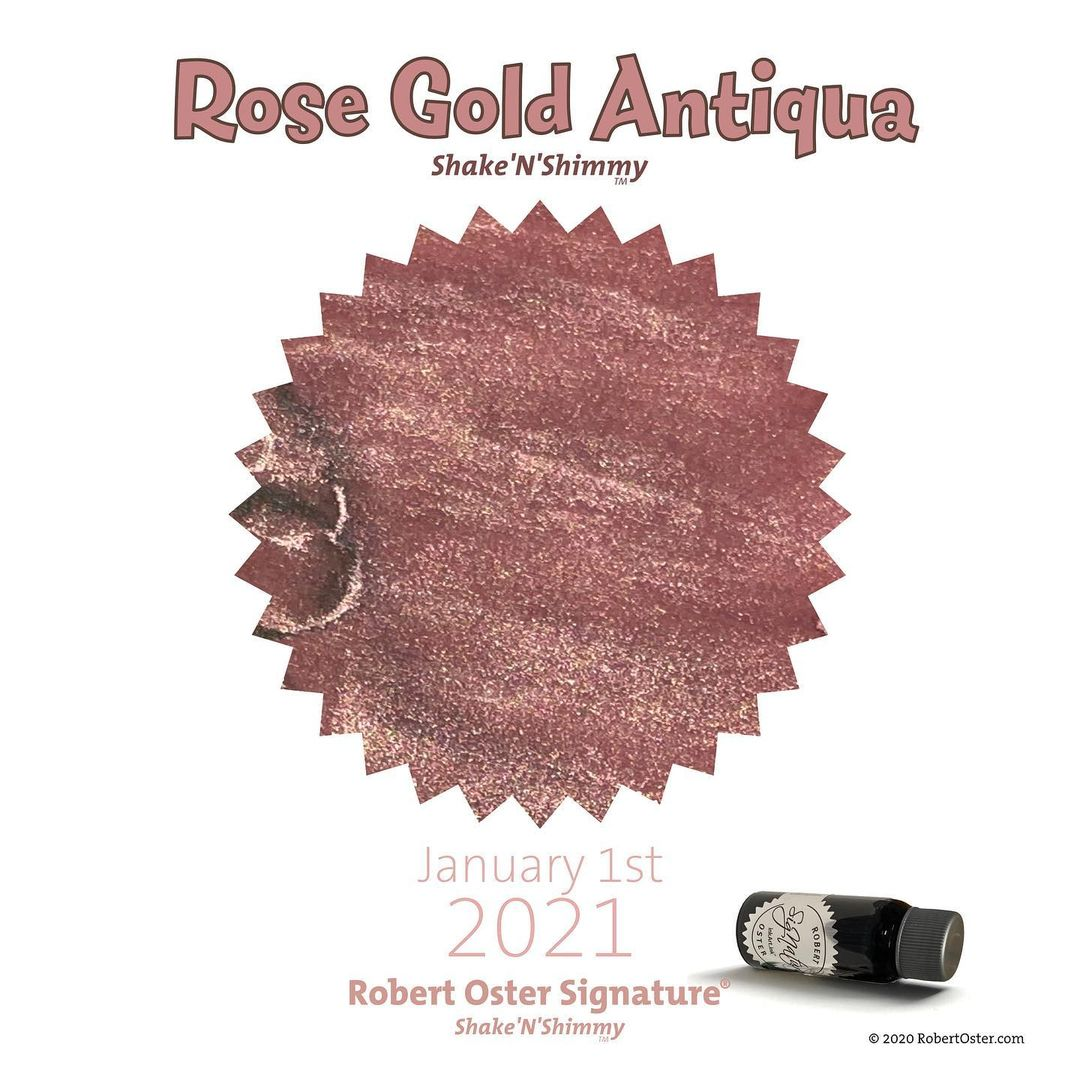 Robert Oster Shake`N`Shimmy - Rose Gold Antiqua  50ml