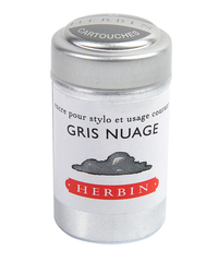 Herbin Ink Cartriges Gris Nuage , 6 per tin