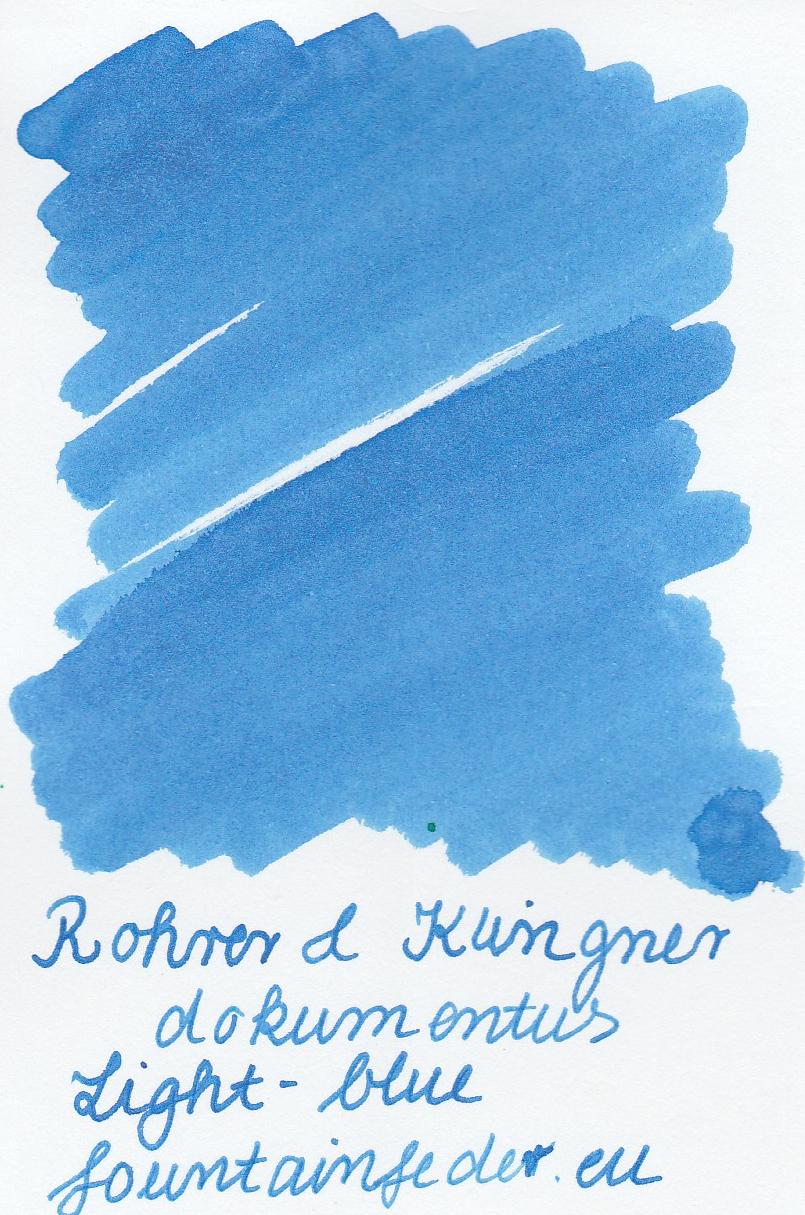Rohrer & Klingner Documentus Light Blue Ink Sample 2ml