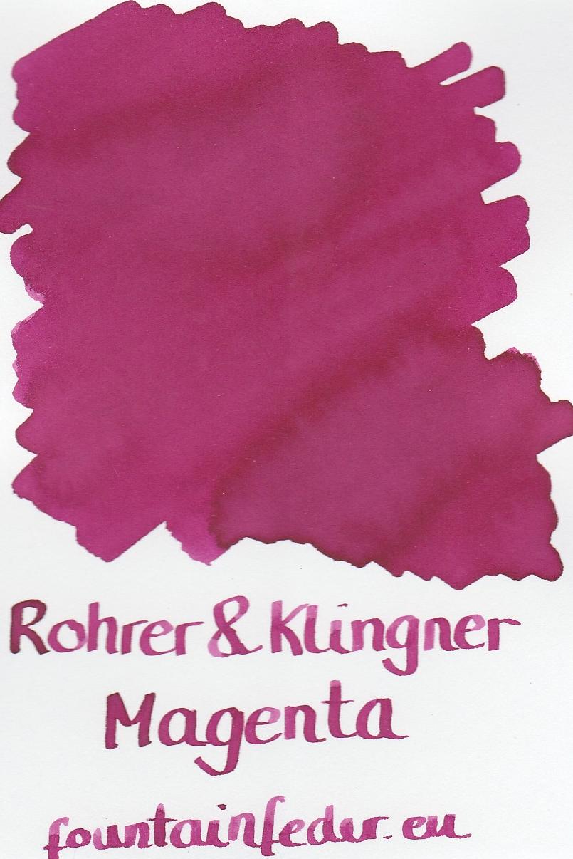 Rohrer & Klingner Magenta Ink Sample 2ml