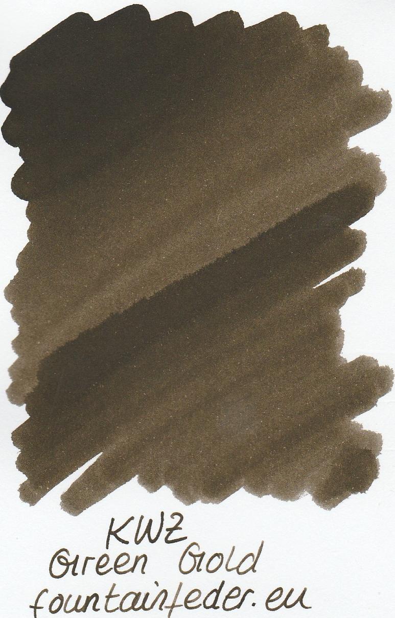 KWZ Green Gold Ink Sample 2ml